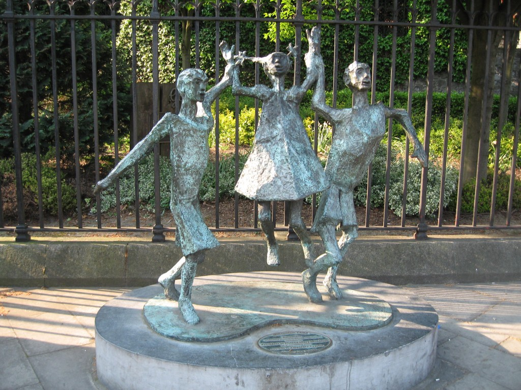 Statue of playing children