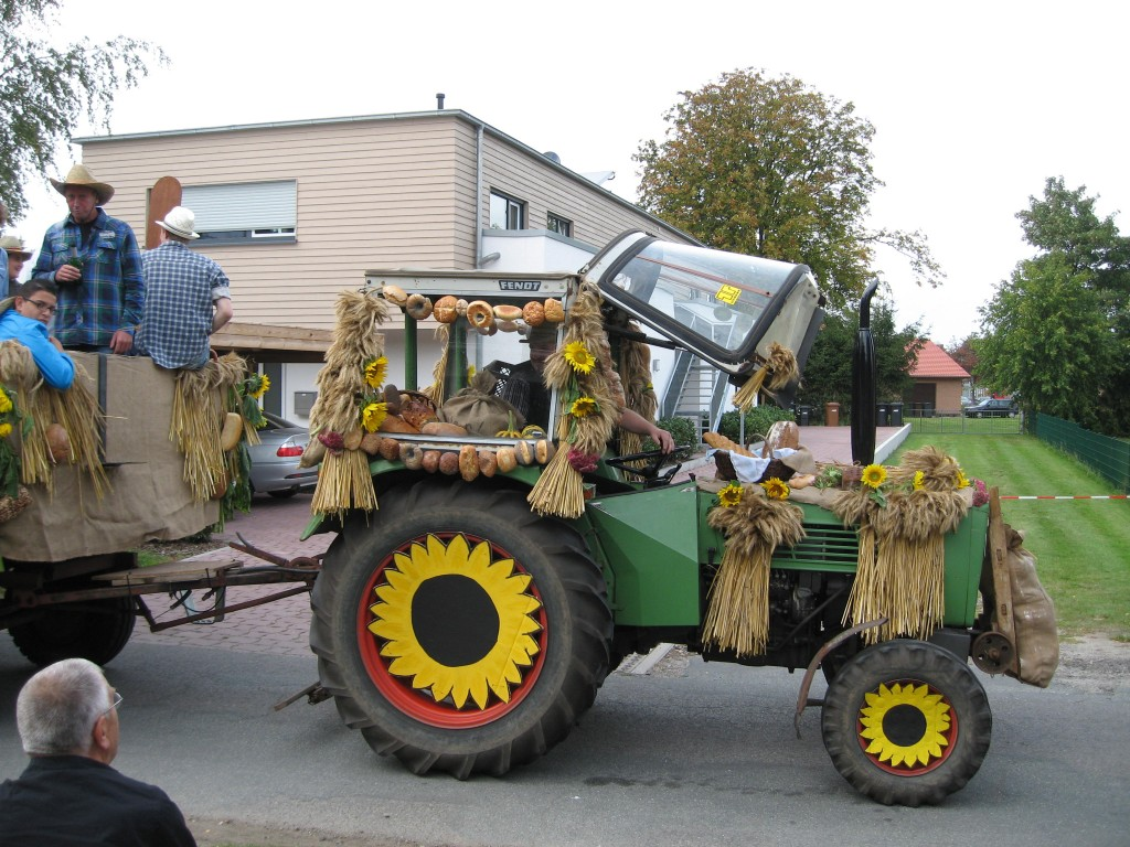Harvest parade tractor