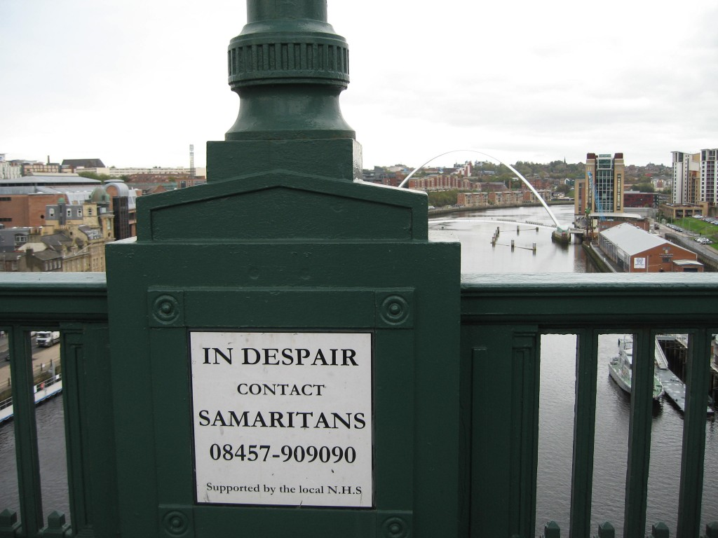 Samaritan Sign at the Tyne Bridge