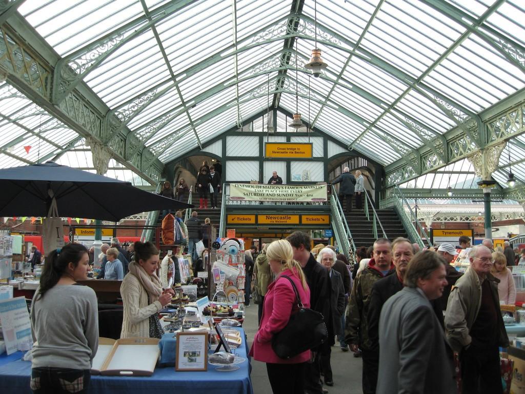 Flea market at Tynemouth Station