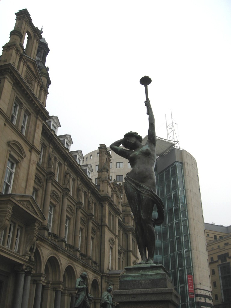 Art Noveau statue in Leeds City Square