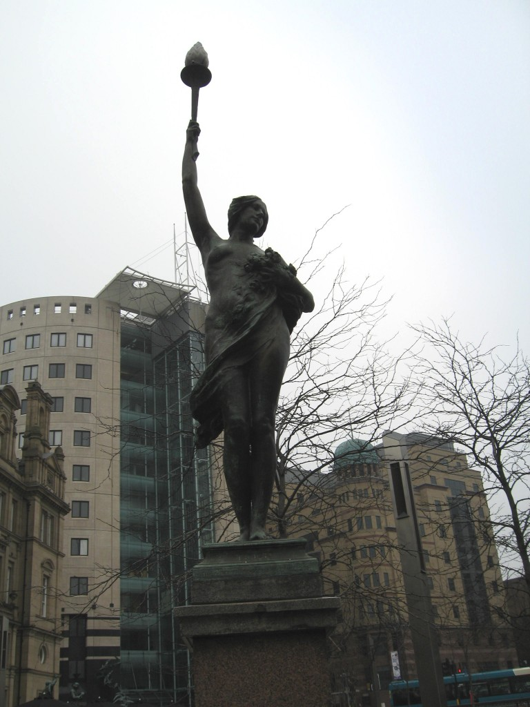 Art Noveau statue in Leeds City Sqaure