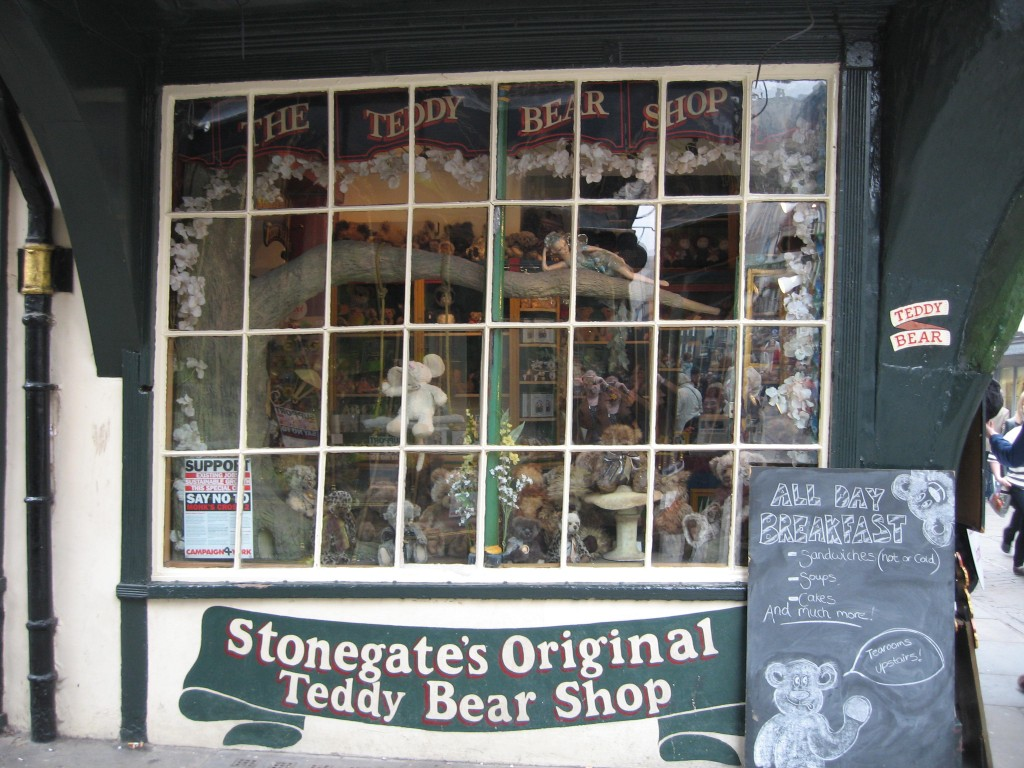Teddy Bear shop and café in York