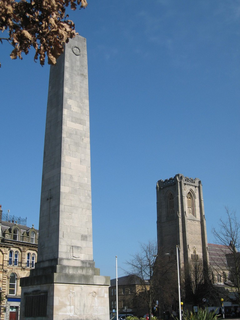 Church and war monument in Harrogate