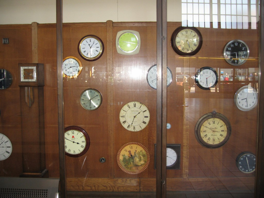 Vintage clock installation