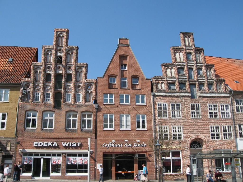 Medieval brick buildings in Lüneburg