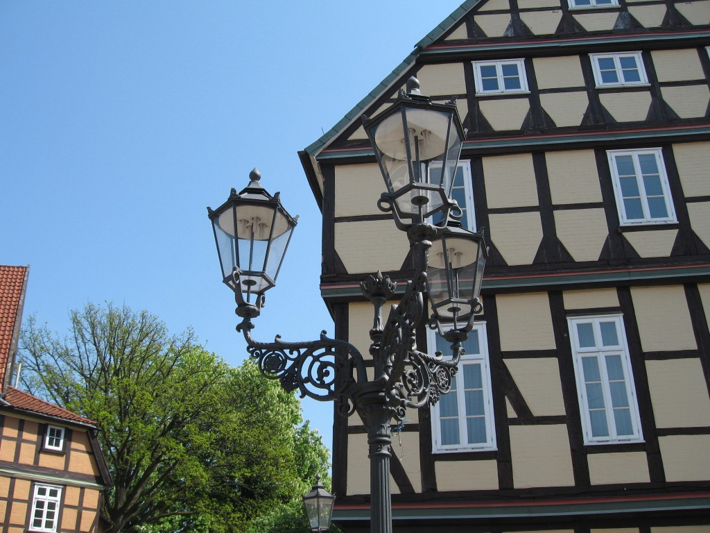 Timbered house and lamp, Celle