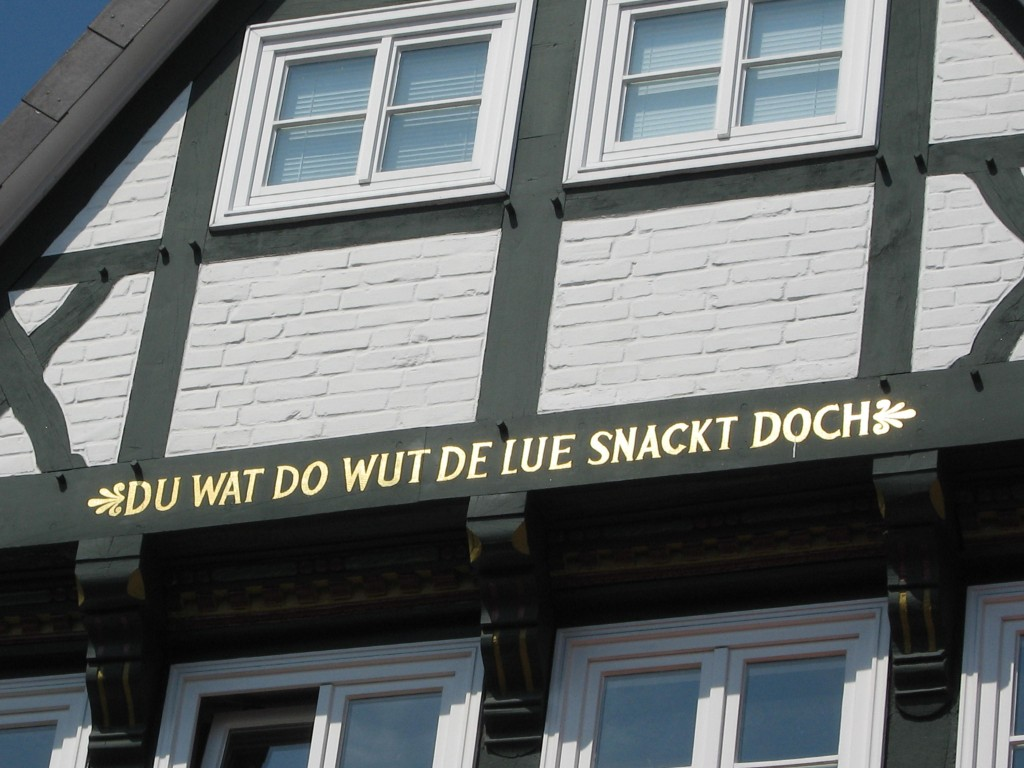 Inscription on a timbered house