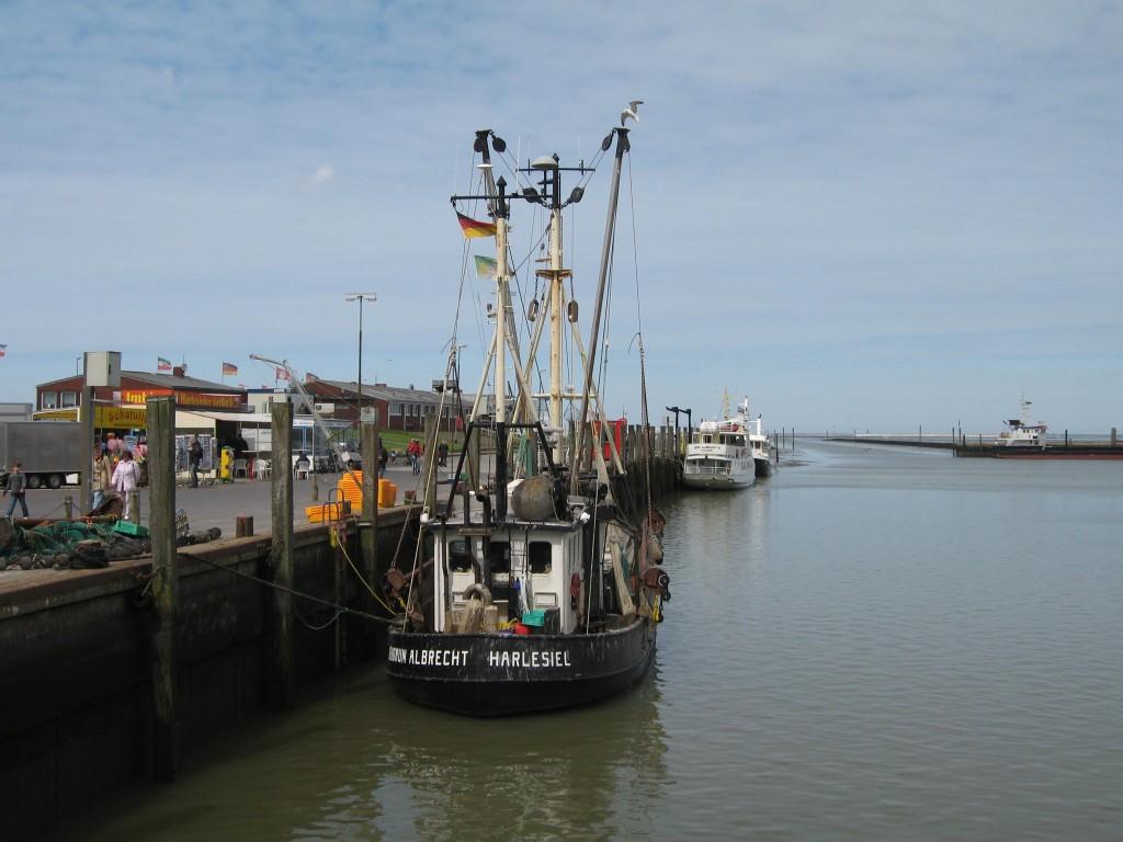 Shrimp fishing boat at Harlesiel