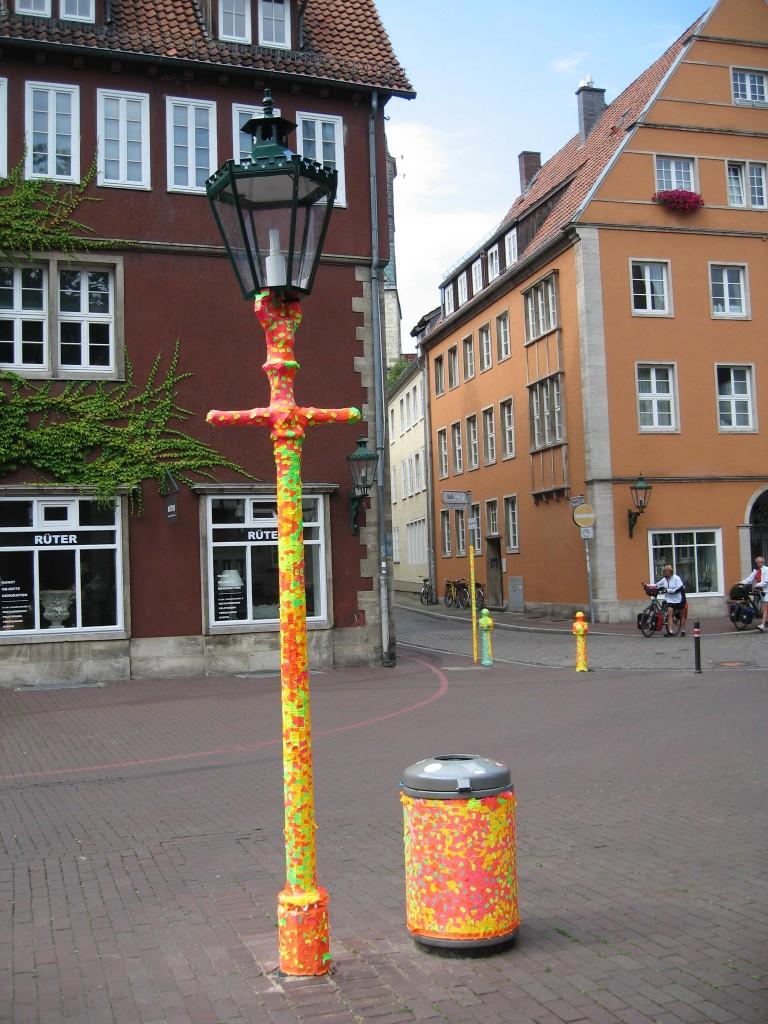 Modern art at the Ballhof square Hannover