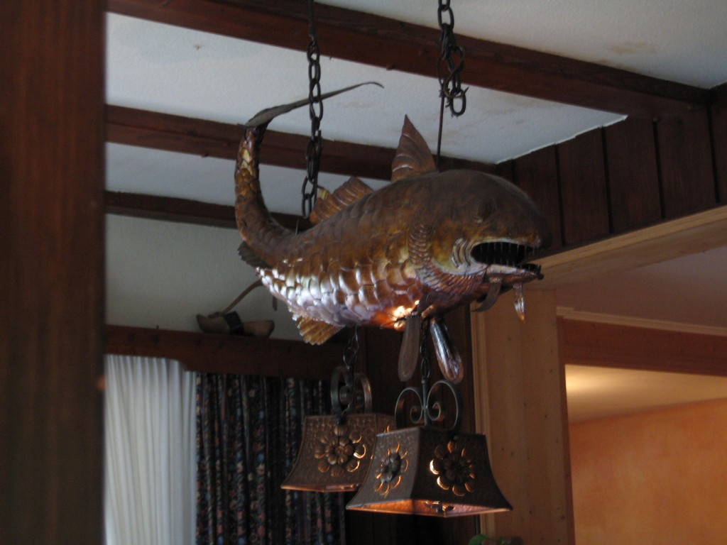 Fish shaped lamp