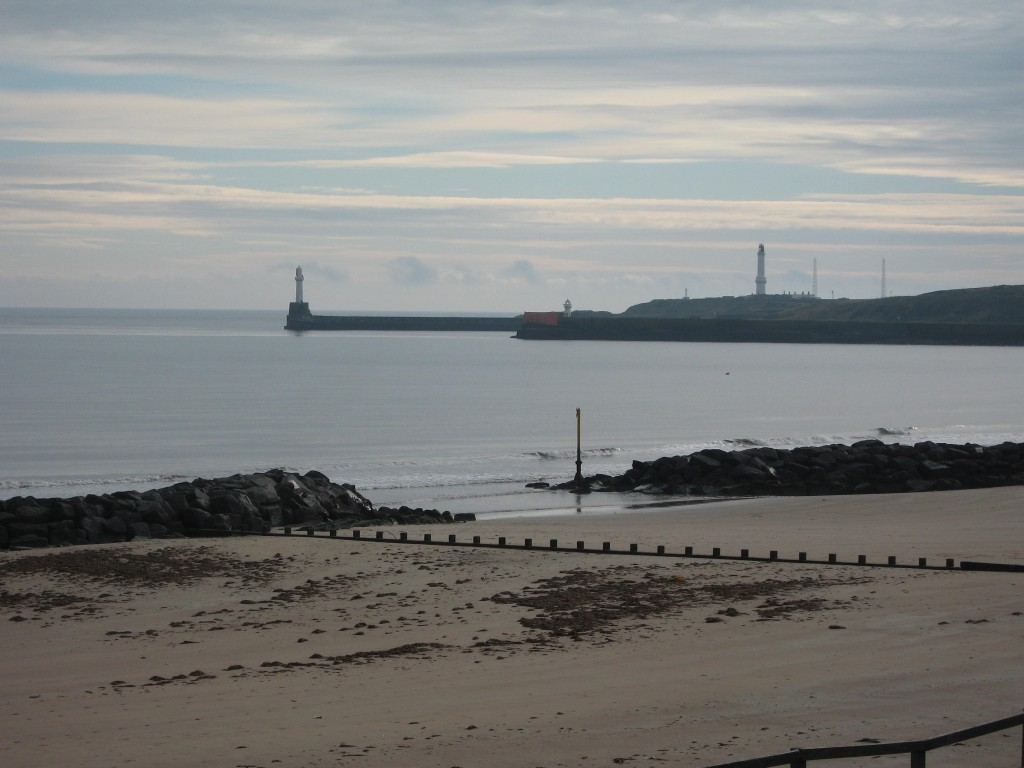 Aberdeen beach and harbour