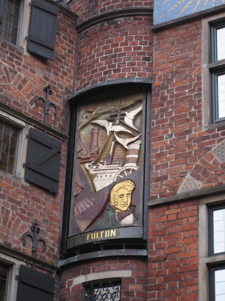 Böttcherstraße Glockenspiel Robert Fulton