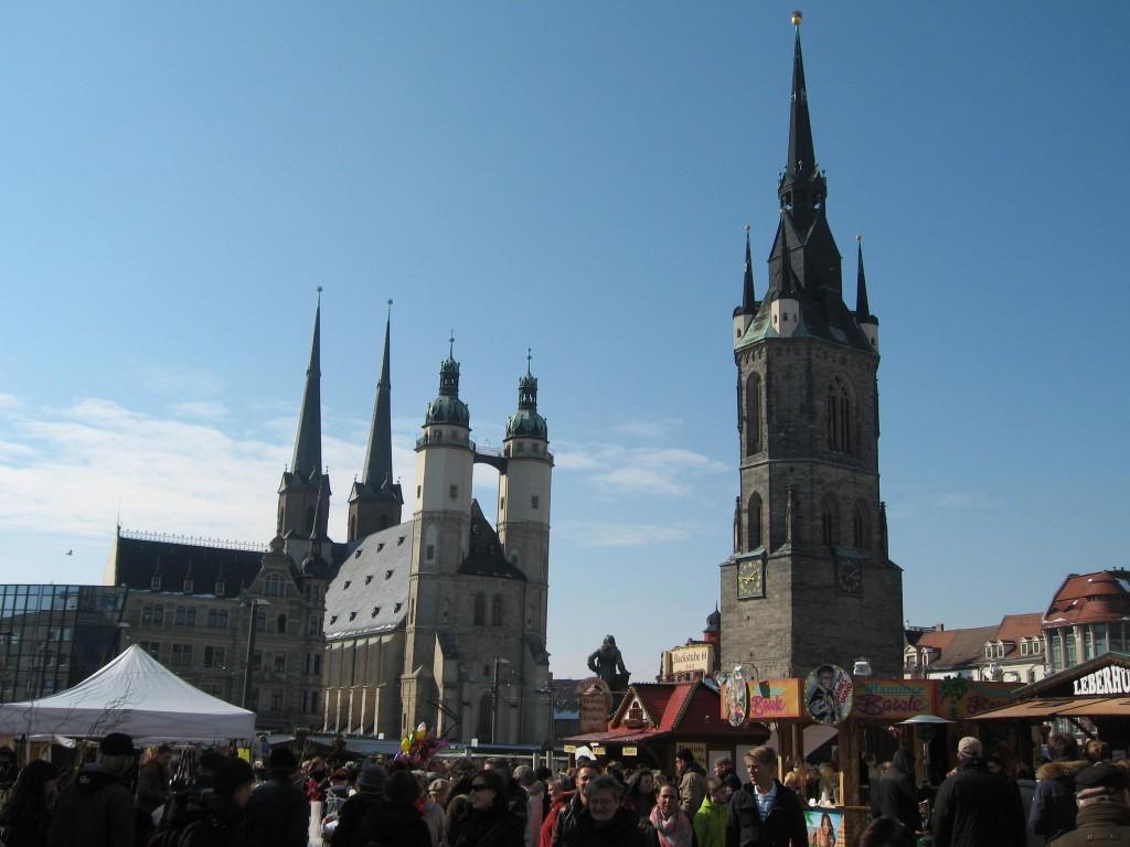 Halle market square