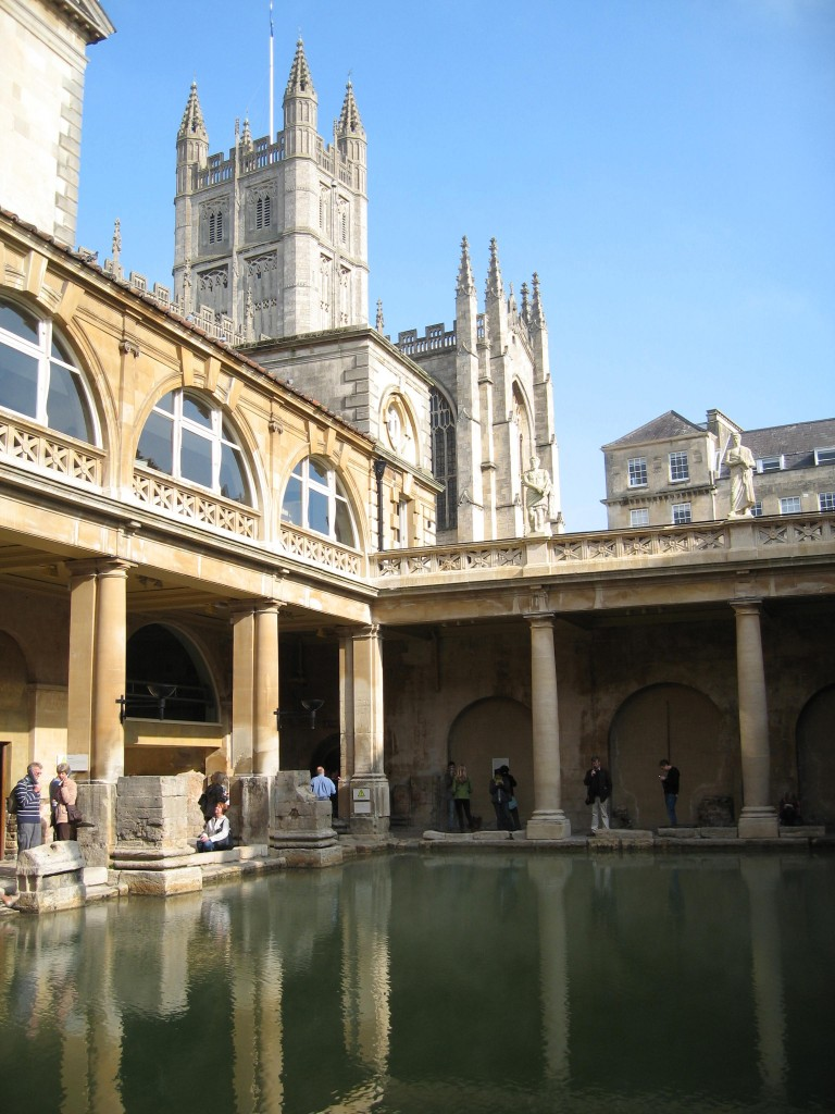 Bath Roman bath and cathedral