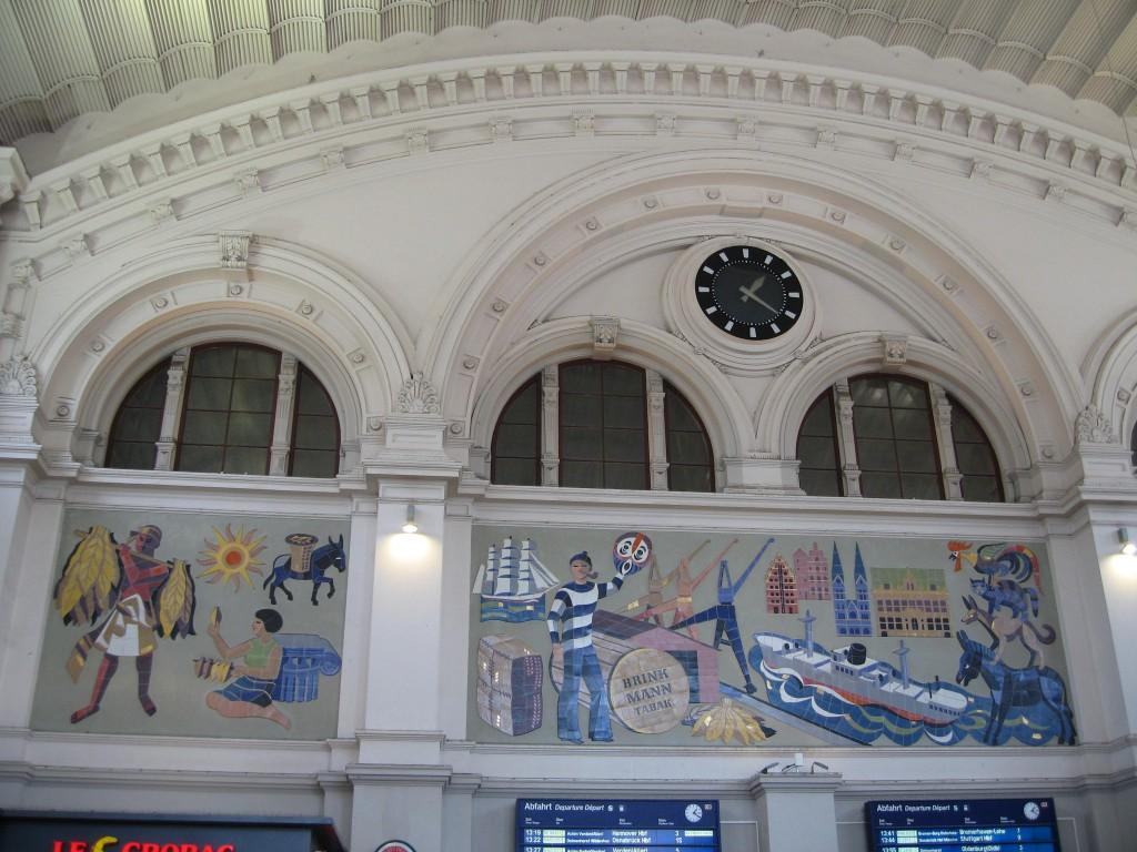 Bremen central station Brinkmann mural