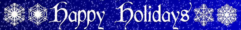 Banner Happy Holidays