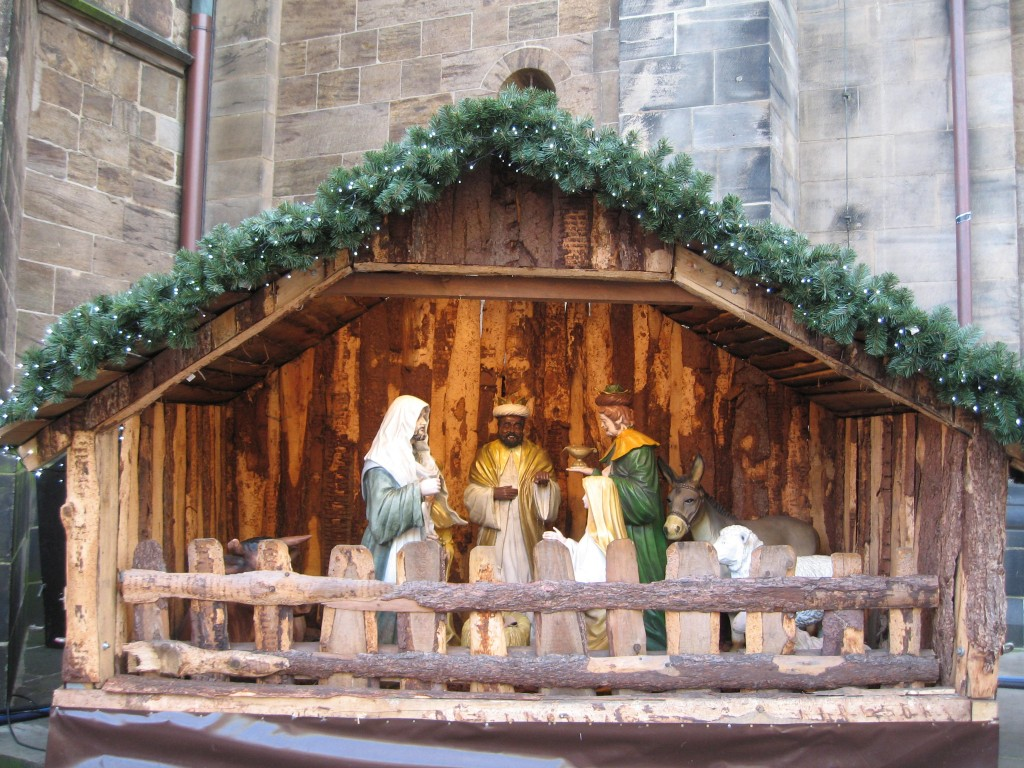 Bremen Christmas market nativity