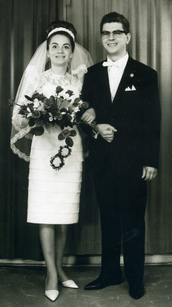 1965 wedding portrait