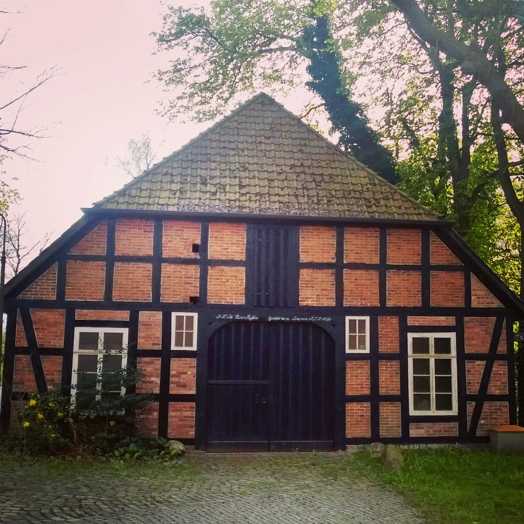 Timbered farm house