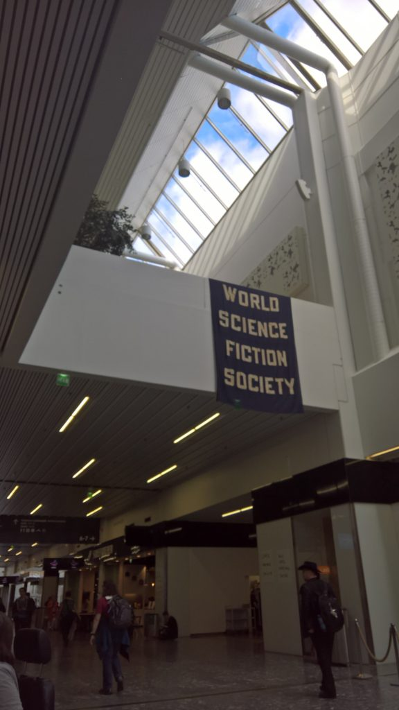 WSFS banner at WorldCon 75