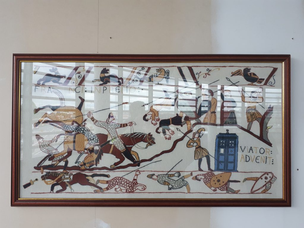Bayeux tapestry with TARDIS