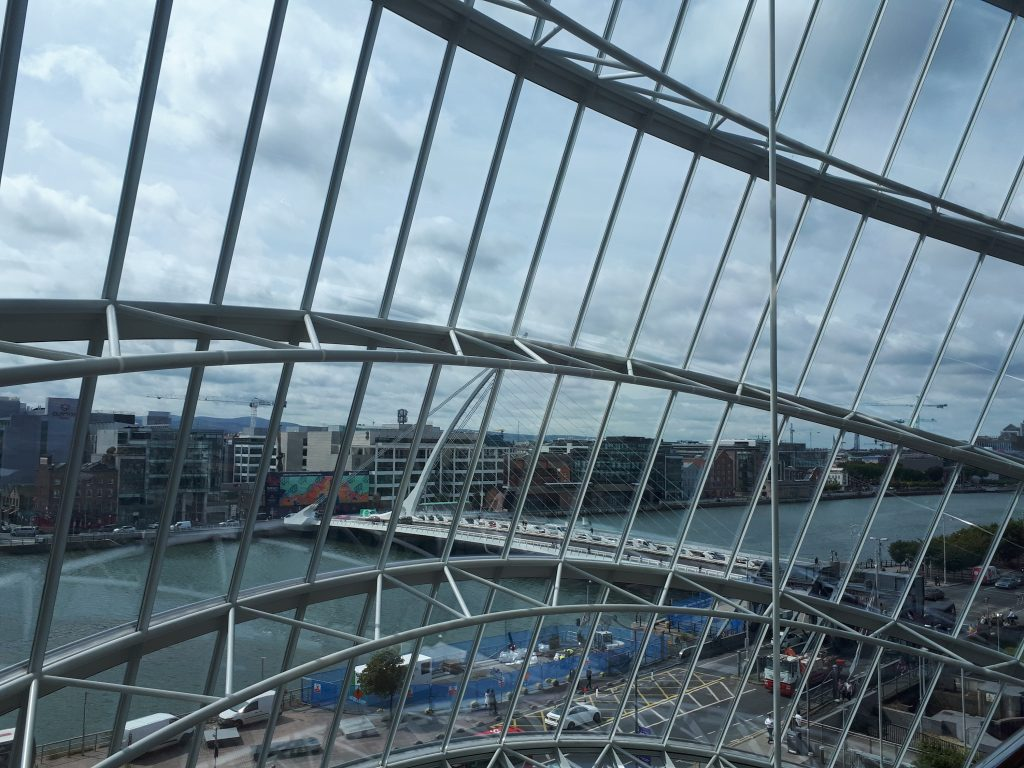 Samuel Beckett Bridge viewed from CCD