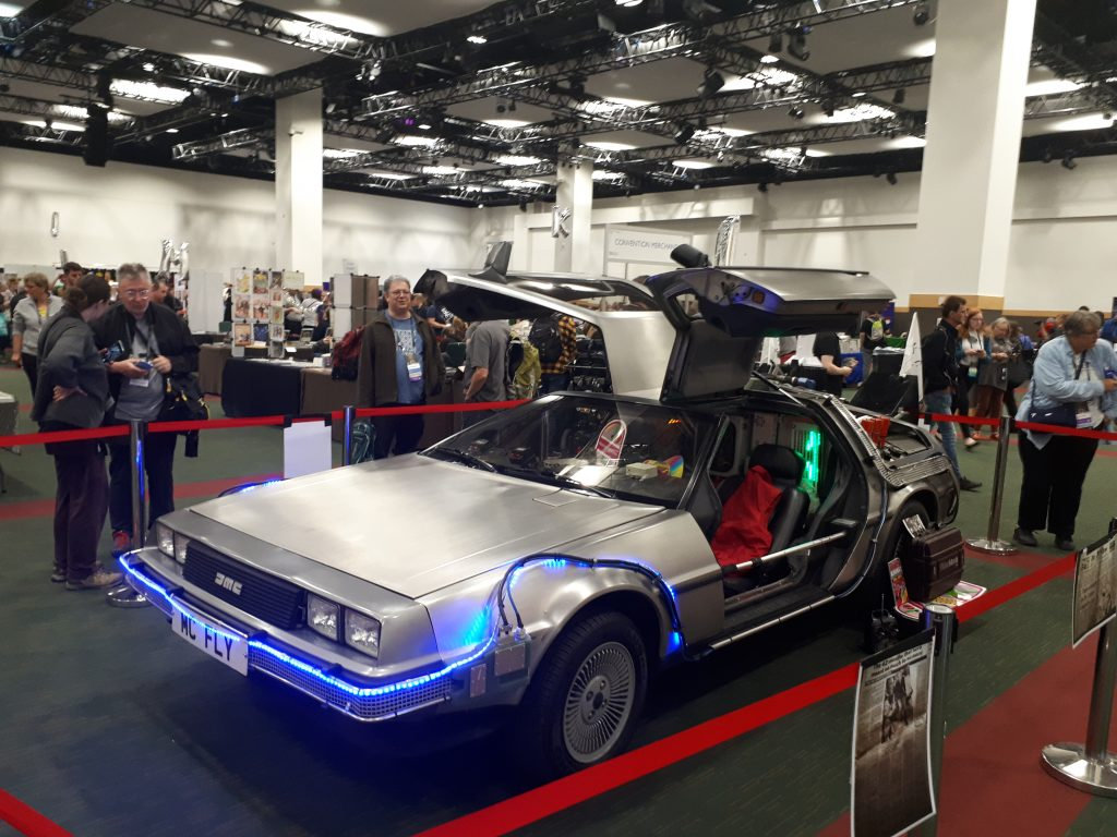 DeLorean at WorldCon 77