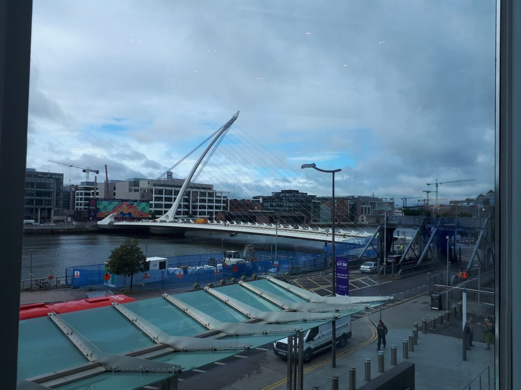 Samuel Beckett Bridge by day
