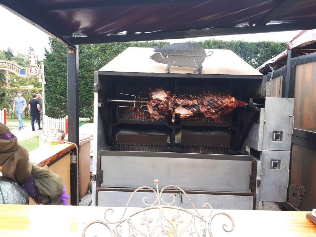 Roast pig at Steamfest