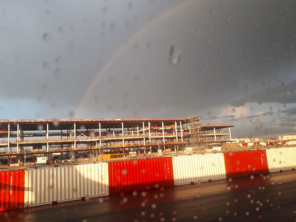 Rainbow over Schiphol airport