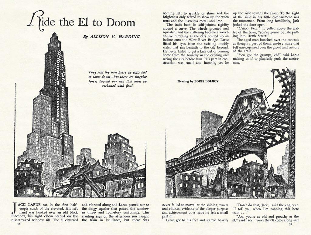 """Interior art """"Ride the El to Doom"""""""